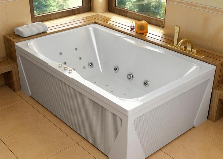 Монтаж ванны с гидромассажем