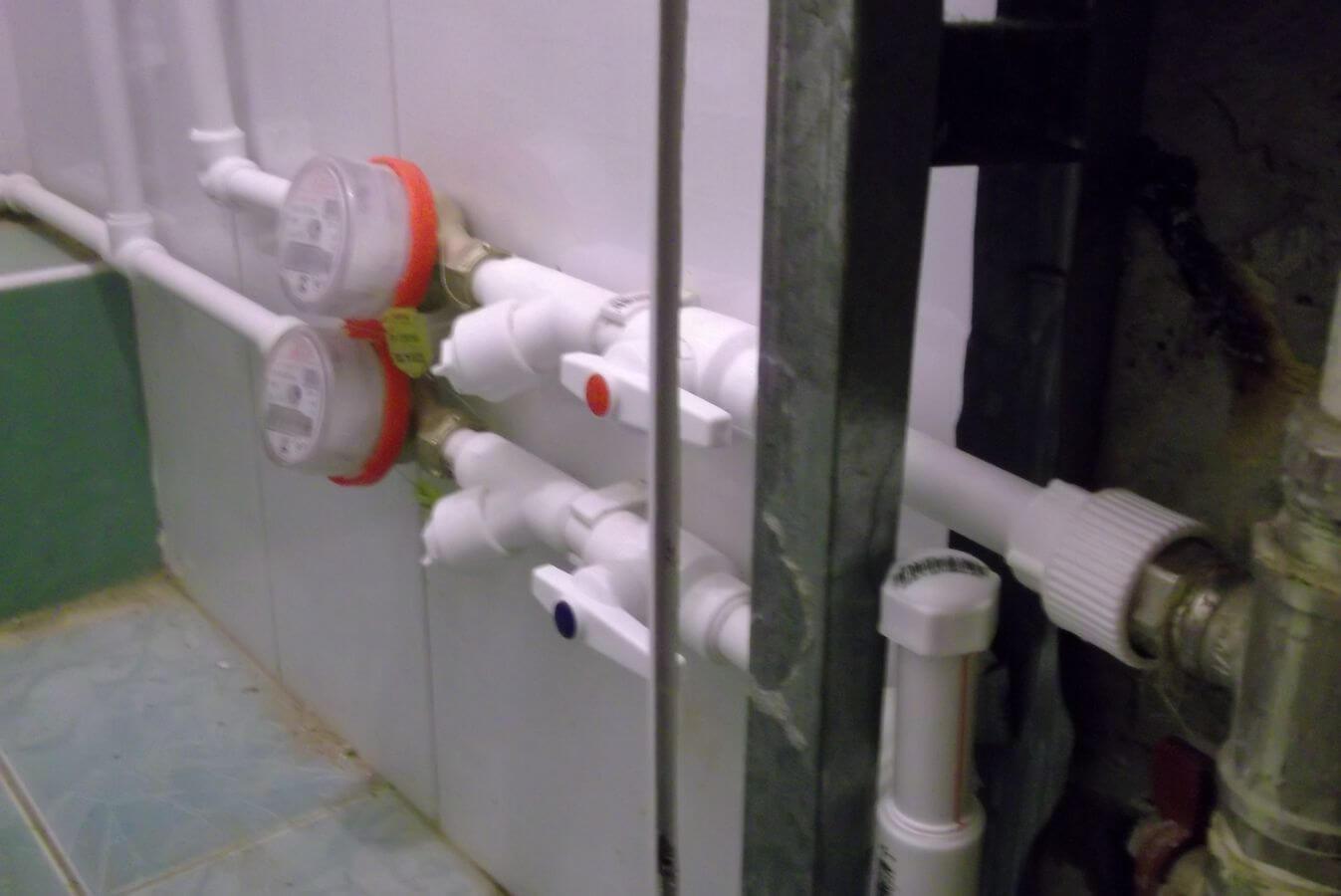 схема установки водомерного счетчика на холодную воду